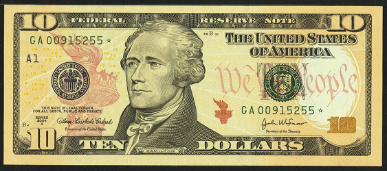 2006 Ten Dollar Federal Reserve Note