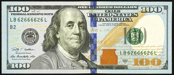 2009 One Hundred Dollar Federal Reserve Note