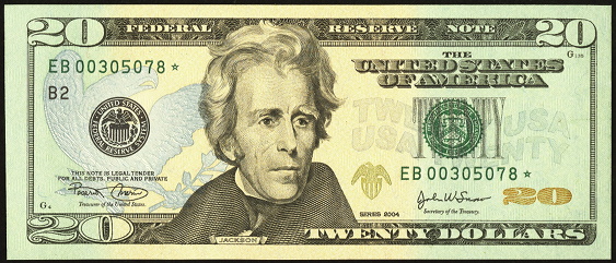 2009 Twenty Dollar Federal Reserve Note