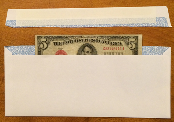 How to Pack - Insert Note into envelope carefully