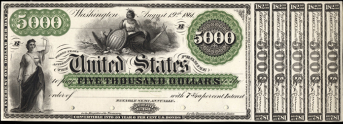 1861 $5000 Interest Bearing Note Value – How much is 1861 $5000 Bill Worth?