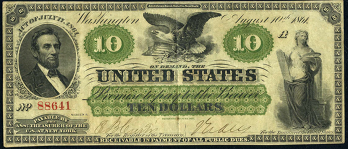 1861 $10 Demand Note Value – How much is 1861 $10 Bill Worth?