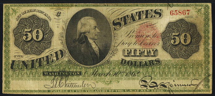 1862 $50 Legal Tender Value – How much is 1862 $50 Bill Worth?