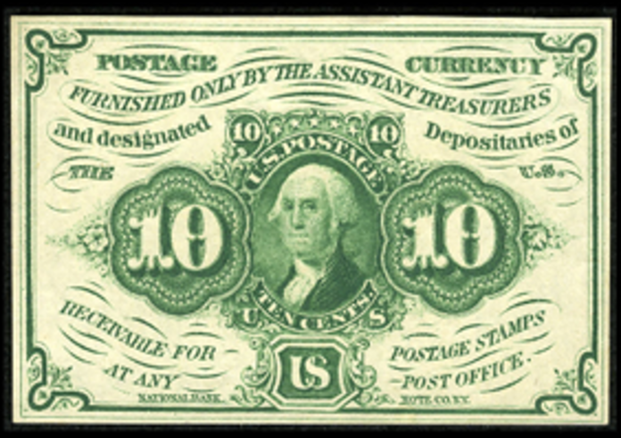 1862 1st Issue 10 Cent One Sided Note Value – How much is 10 Cent Blank Back Worth?
