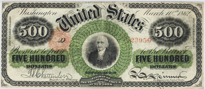 1862 $500 Legal Tender Value – How much is 1862 $500 Bill Worth?