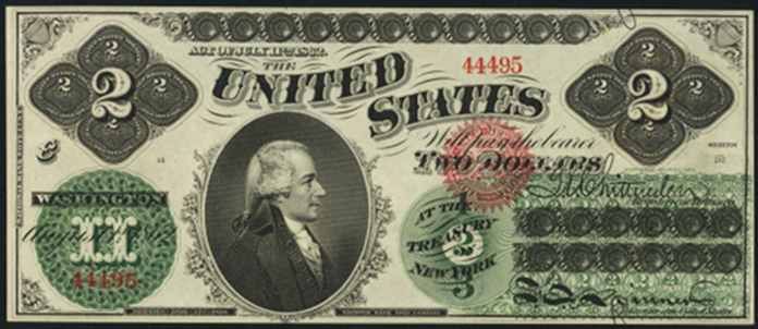 1862 $2 Legal Tender Value – How much is 1862 $2 Bill Worth?