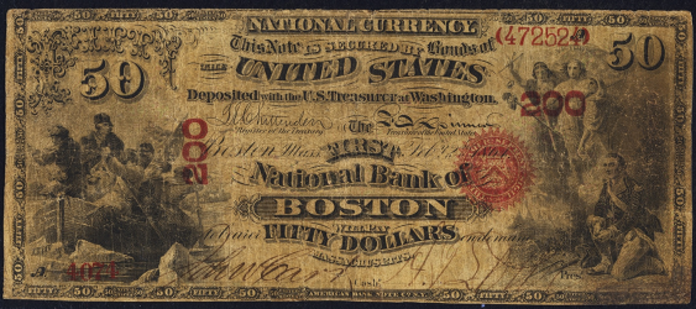 1863 $50 National Bank Notes Value – How much is 1863 $50 Bill Worth?