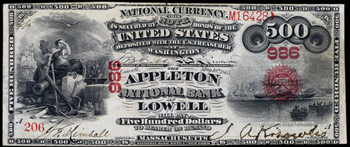 1863 $500 National Bank Notes Value – How much is 1863 $500 Bill Worth?
