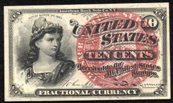 1863 4th Issue 10 Cent Note Value – How much is 1863 10 Cent Bill Worth?