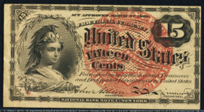 1863 4th Issue 15 Cent Note Value – How much is 1863 15 Cent Bill Worth?