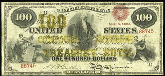 1864 $100 Compound Interest Treasury Note Value – How much is 1864 $100 Bill Worth?