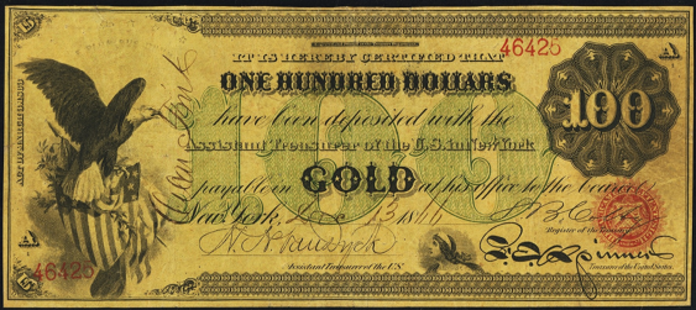 1863 $100 Gold Certificate Value – How much is 1863 $100 Bill Worth?