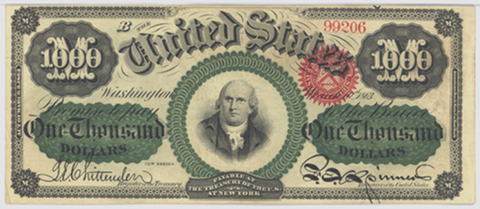 1863 $1000 Legal Tender Value – How much is 1863 $1000 Bill Worth?