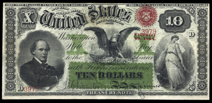 1863 $10 Interest Bearing Note Value – How much is 1863 $10 Bill Worth?