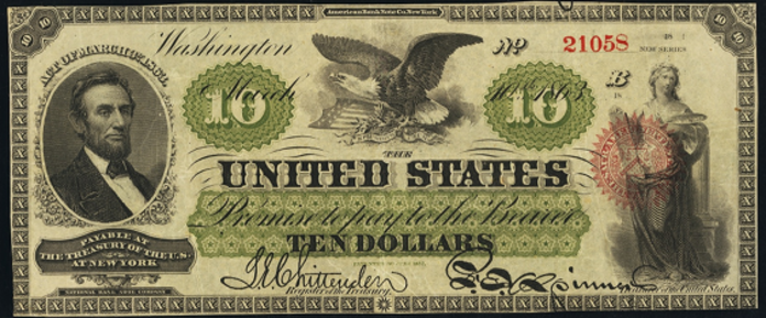 1863 $10 Legal Tender Value – How much is 1863 $10 Bill Worth?