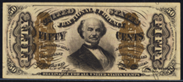 1863 3rd Issue 50 Cent One Sided Note Value – How much is 50 Cent Blank Back Worth?