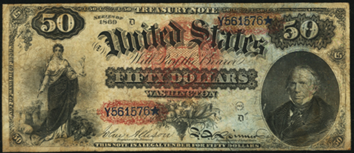 1869 $50 Legal Tender Value – How much is 1869 $50 Bill Worth?