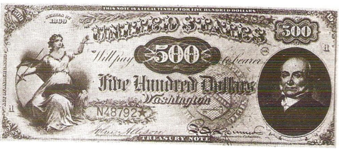 1869 $500 Legal Tender Value – How much is 1869 $500 Bill Worth?