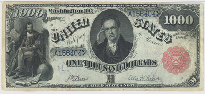 1869 $1000 Legal Tender Value – How much is 1869 $1000 Bill Worth?
