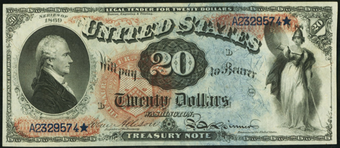 1869 $20 Legal Tender Value – How much is 1869 $20 Bill Worth?