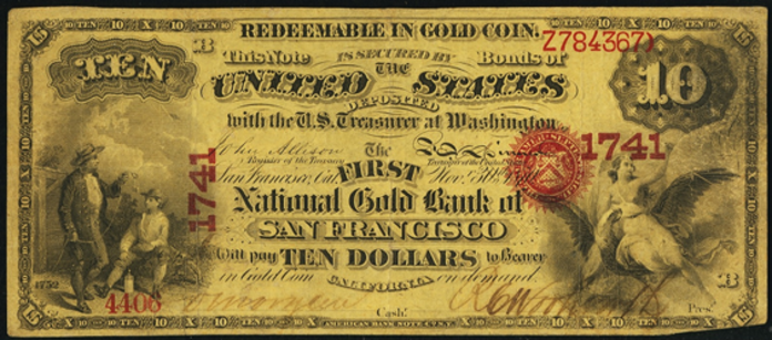 1870 $10 National Gold Note Value – How much is 1870 $10 Bill Worth?