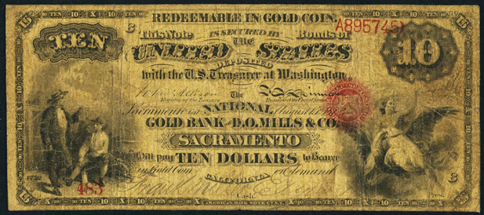 1872 $10 National Gold Note Value – How much is 1872 $10 Bill Worth?