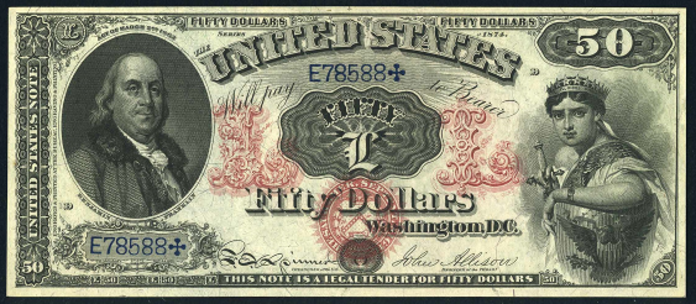 1874 $50 Legal Tender Value – How much is 1874 $50 Bill Worth?