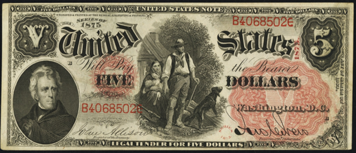 1875 $5 Legal Tender Value – How much is 1875 $5 Bill Worth?