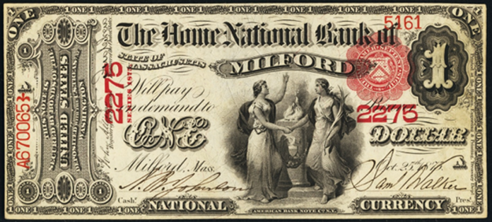 1875 $1 National Bank Notes Value – How much is 1875 $1 Bill Worth?