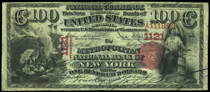 1875 $100 National Bank Notes Value – How much is 1875 $100 Bill Worth?