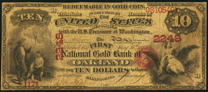1875 $10 National Gold Note Value – How much is 1875 $10 Bill Worth?
