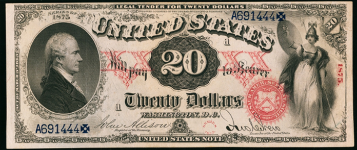 1875 $20 Legal Tender Value – How much is 1875 $20 Bill Worth?