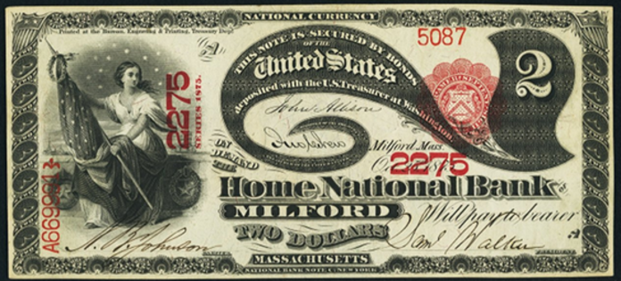 1875 $2 National Bank Notes Value – How much is 1875 $2 Bill Worth?