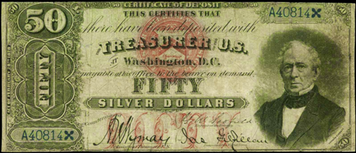 1878 $50 Silver Certificate Value – How much is 1878 $50 Bill Worth?