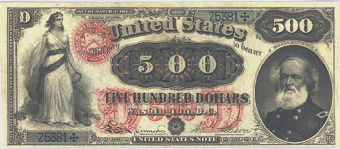 1878 $500 Legal Tender Value – How much is 1878 $500 Bill Worth?
