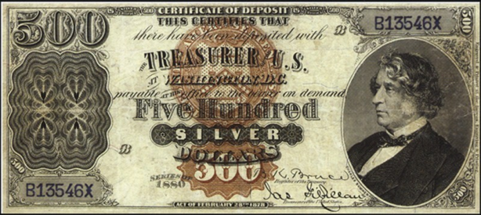 1878 $500 Silver Certificate Value – How much is 1878 $500 Bill Worth?