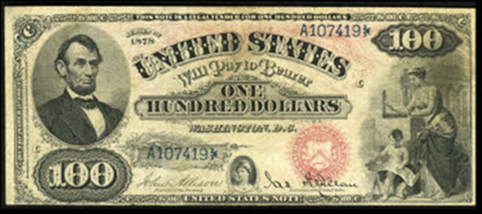1878 $100 Legal Tender Value – How much is 1878 $100 Bill Worth?