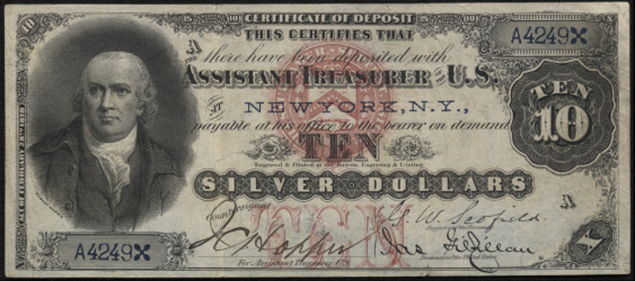 1878 $10 Silver Certificate Value – How much is 1878 $10 Bill Worth?