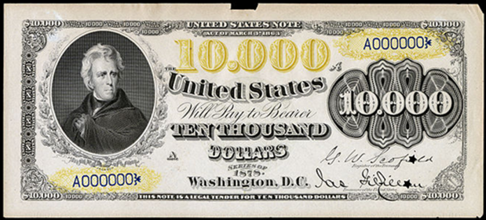 1878 $10000 Legal Tender Value – How much is 1878 $10000 Bill Worth?
