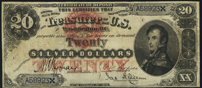 1878 $20 Silver Certificate Value – How much is 1878 $20 Bill Worth?
