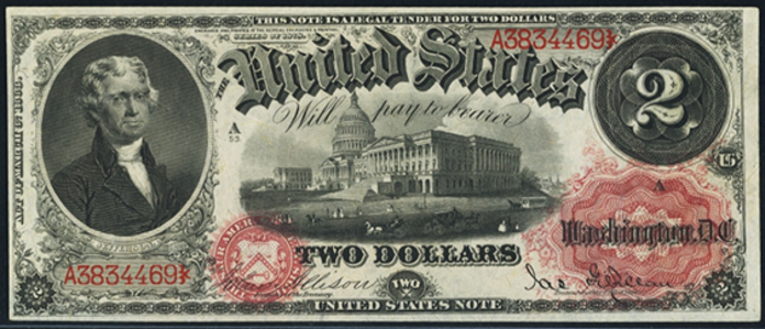 1878 $2 Legal Tender Value – How much is 1878 $2 Bill Worth?