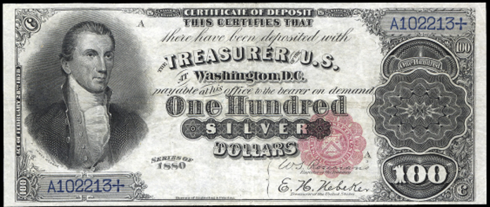 1880 $100 Silver Certificate Value – How much is 1880 $100 Bill Worth?