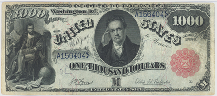 1880 $1000 Legal Tender Value – How much is 1880 $1000 Bill Worth?