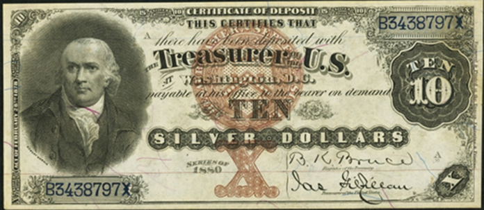 1880 $10 Silver Certificate Value – How much is 1880 $10 Bill Worth?