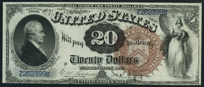 1880 $20 Legal Tender Value – How much is 1880 $20 Bill Worth?