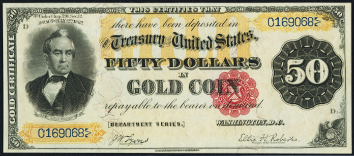 1882 $50 Gold Certificate Value – How much is 1882 $50 Bill Worth?