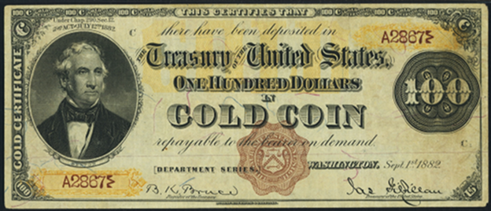 1882 $100 Gold Certificate Value – How much is 1882 $100 Bill Worth?