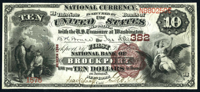1882 $10 National Bank Notes Value – How much is 1882 $10 Bill Worth?