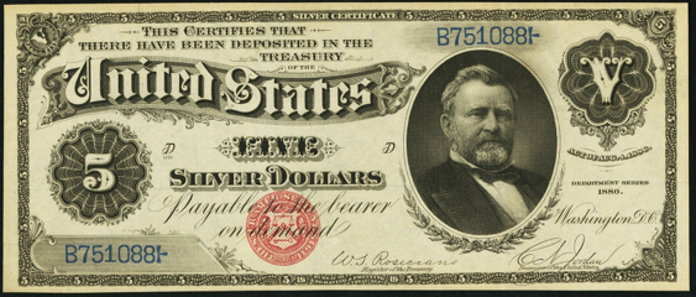 1886 $5 Silver Certificate Value – How much is 1886 $5 Bill Worth?