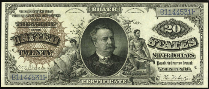 1886 $20 Silver Certificate Value – How much is 1886 $20 Bill Worth?